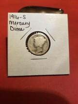 1916- S Mercury Silver Dime Nice Coin 90% Silver - $3.84