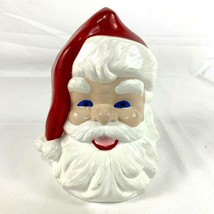 Vintage Ceramic Santa Claus Head Figure Hand painted 7 inches - $19.27