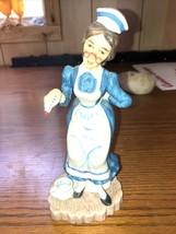 Vintage . NURSE Figurine. LEFTON China~ Handpainted Porcelain. Japan. Excellent - $19.57