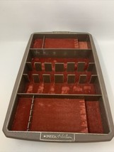 Oneida Heirloom Brown Plastic Silverware Tray Burndt Orange Velvet-Like Lining46 - $23.70