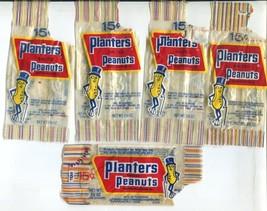 5 Vtg 1960s Planter's Mr Peanut Wrappers Premiums Bank Pencil Cup Rag Do... - $24.99