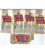 5 Vtg 1960s Planter's Mr Peanut Wrappers Premiums Bank Pencil Cup Rag Do... - $24.99