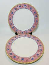 Watercolors by Sango Strawberry Field 3001 Set of 2 Dinner Plates Sue Zi... - $19.75
