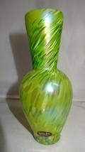 Glass Eye Studio Art Glass Sophisticated Shape Green Bud Vase - $39.00