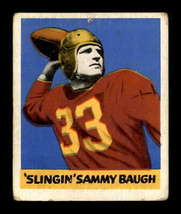 VINTAGE NFL 1948 Leaf #34 Sammy Baugh RC G/VG  - $170.78