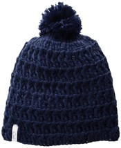 Coal Women's Hand-Crocheted Waffle-Knit Beanie with Pom, Navy, One Size - $34.63