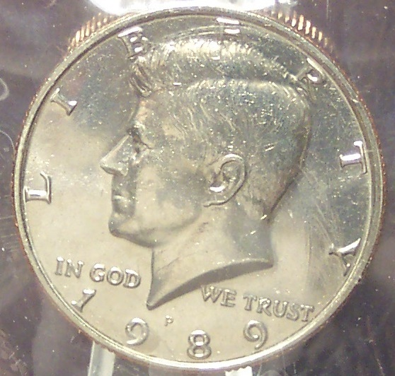 Primary image for 1989-P Kennedy Half Dollar BU in The Cello #0708