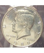 1989-P Kennedy Half Dollar BU in The Cello #0708 - $6.89