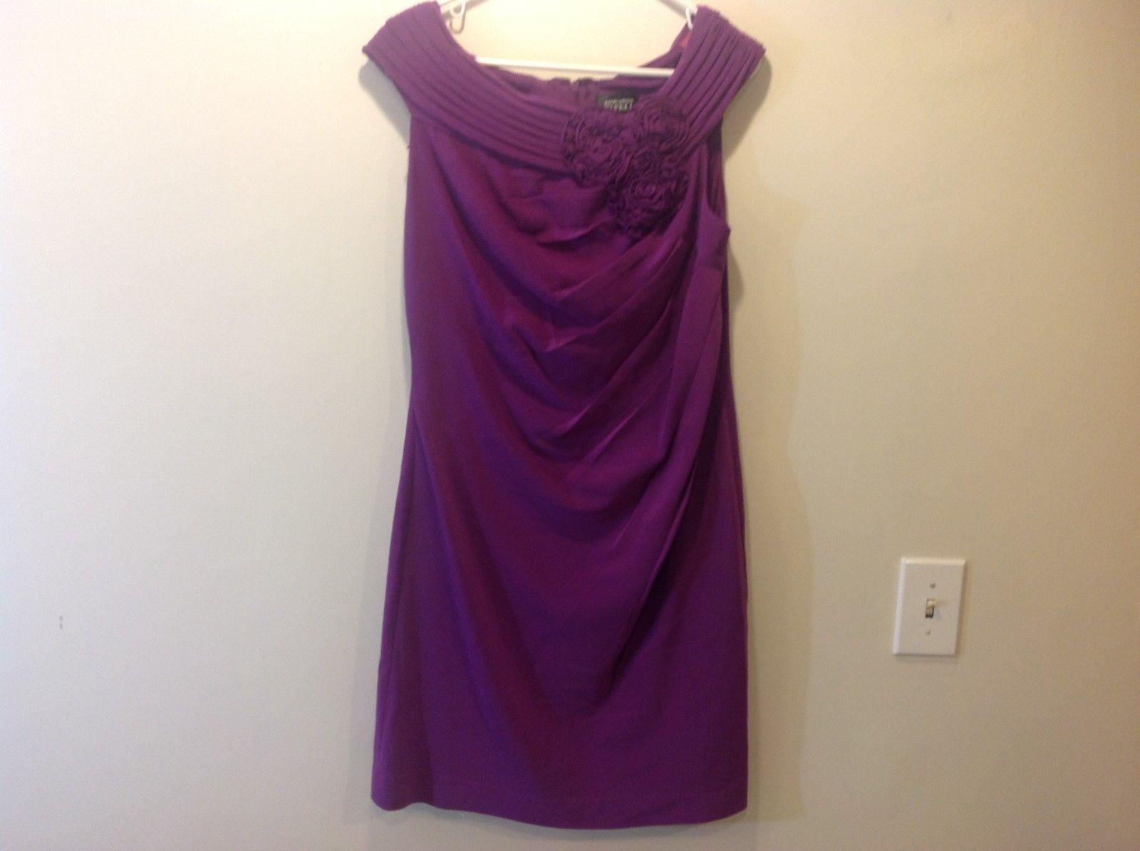 Adrianna Papell Sleeveless Purple Party Dress Sz 12