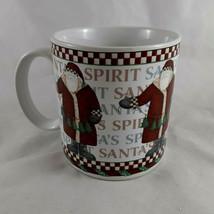 Debbie Mumm Santa's Spirit Coffee Mug Cup Sakura Oneida Santa Claus - $9.89