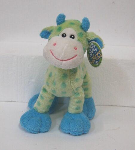 Soft Classics Cow Light Blue Green Polka Dots Ages 0 Plus