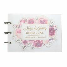 Floral Wedding Guestbook Personalized Wedding Sign in Book Custom Weddin... - $13.85