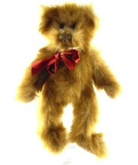 PBC Classic Long Hair Teddy Bear with Satin Ribbon Fully Jointed Bean Ba... - $15.83