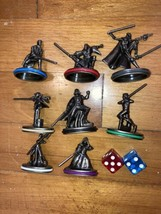 Used Star Wars Monopoly Saga 8 Replacement Pewter Game Pieces w/ Dice  - $18.95