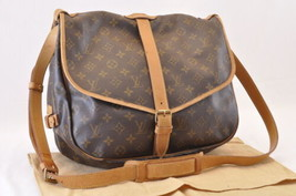 LOUIS VUITTON Monogram Saumur 35 Shoulder Bag M42254 LV Auth 6089 - $420.00