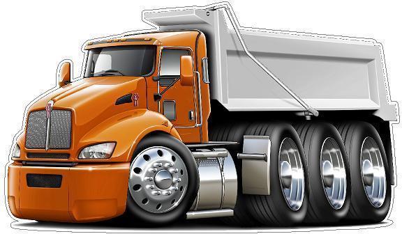 Kenworth T440 Dump Truck Semi Wall Graphic Decal Sticker ...Kenworth Dump Trucks Graphics