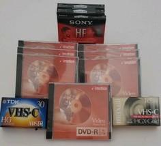 Lot of Mixed New Blank Media- Cassette, DVD-R, VHS-C - $19.79