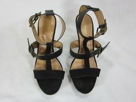 Sexy Nine West Black Stiletto Strappy Sandle Delaney - $19.79
