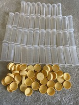 Lot Of 44 Medela 2.5 Ounce Baby Bottles Caps Breastmilk Storage Containers - $33.87