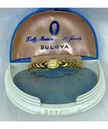 RARE Vintage 1952 L2 Bulova Ladies 14K Yellow Gold Watch 21 Jewels Origi... - $199.99