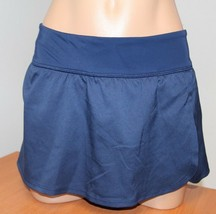 New Nike Swimsuit Bikini Skirted Bottom Skirt Midnight Navy Size L - $13.54