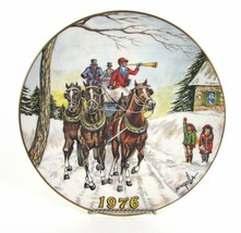 "Vintage 1976 Gorham "" DOM MINGOLLA "" Christmas Winter Horse Mingolla Plate - £4.37 GBP"