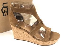 Ugg Australia Women's Whitney Platform Chestnut Brown 1090791 Wedge Sandals - $74.99