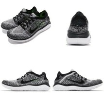 NIB NEW Women's Nike Free RN Flyknit 2018 Training Shoes 942839-101 Black Gray - $100.00