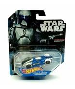 Star Wars Hot Wheels Disney Jango Fett character cars die cast Disney Ma... - $16.66
