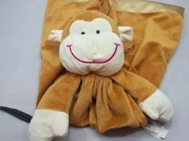 """DanDee Brown Monkey Lovey Security Blanket Pocket Storage 18"""" - $19.70"""