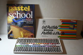 Grumbacher Oil Pastel Sticks Professional Artist Set of 48 with Pastel C... - $45.00
