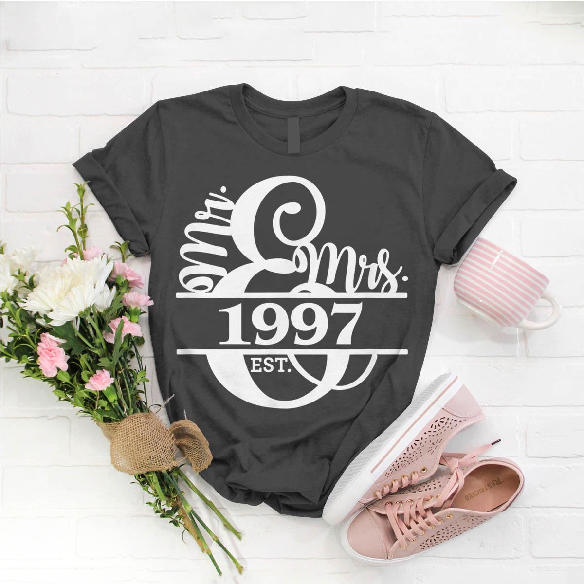 22nd Wedding Anniversary Gift Ideas: Mr Mrs 1997 Wedding 22Nd Anniversary T- Shirt Birthday