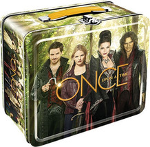 Once Upon A Time TV Series Cast Photo Cover Tin Tote Lunchbox, NEW UNUSED - $12.55