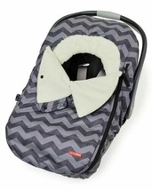 Skip Hop Winter Car Seat Cover: Ultra Plush Fleece Tonal Chevron - $39.99