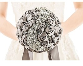 Pavian Advanced Customization S type brooch wedding bouqeut bride (Grey) - $53.04