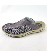 Keen Uneek II Cord Leather Gray Slides Sandals Comfort Shoes Womens 8  - £39.51 GBP
