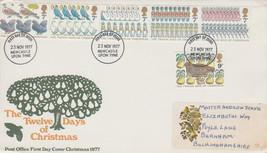 GB 1977 Christmas set GPO FDC Newcastle postmark see rest - $0.59