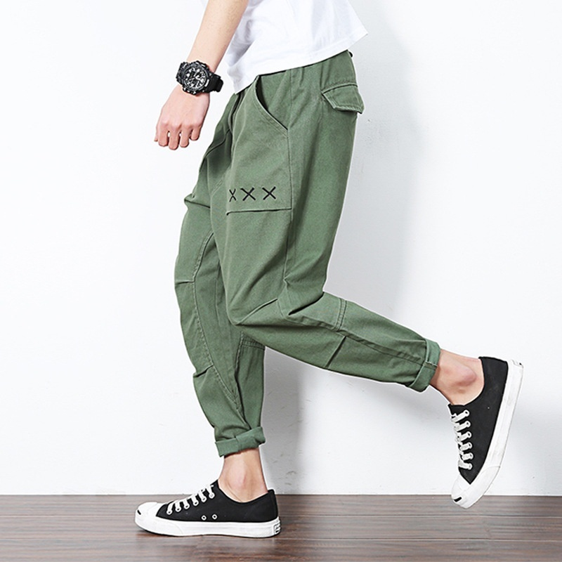 Toward men's pants, summer men's loose feet, casual pants, Haren pants, men's ca