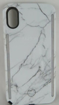 iPhone Case LuMee Duo iPhone X Case and Mobile Lighting Studio White Marble - $29.59