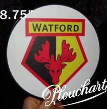WATFORD F.c. soccer team logo round poster - $14.00