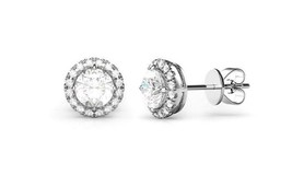 Fashion 925 Sterling Silver Pricess Cut Cubic Zirconia Stud Earrings 6mm - $12.73