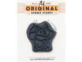 Art Impressions Freebie Fox Rubber Cling Stamp #CHA2015 image 2