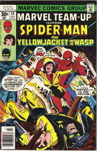 Marvel Team-Up Comic Book #59 Spider-Man & Yellow Jacket & Wasp 1977 FINE+ - $4.75