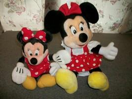 "MINNIE MOUSE Disney Plush Toys 16"" Plush 13"" Beanbag Plush - $12.75"