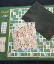 Golf Theme Scrabble Game Letters Word List Birdie Eagle 100 Wood Tiles  - $14.80