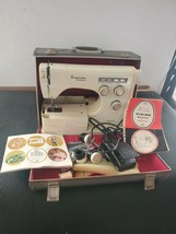 Vintage Viking Husqvarna Model 6010 Colormatic Sewing Machine With Case & Extras - $233.74