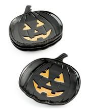 Martha Stewart Collection 4-Pc Stoneware Jack-O-Lantern Pumpkin Appetizer Plates