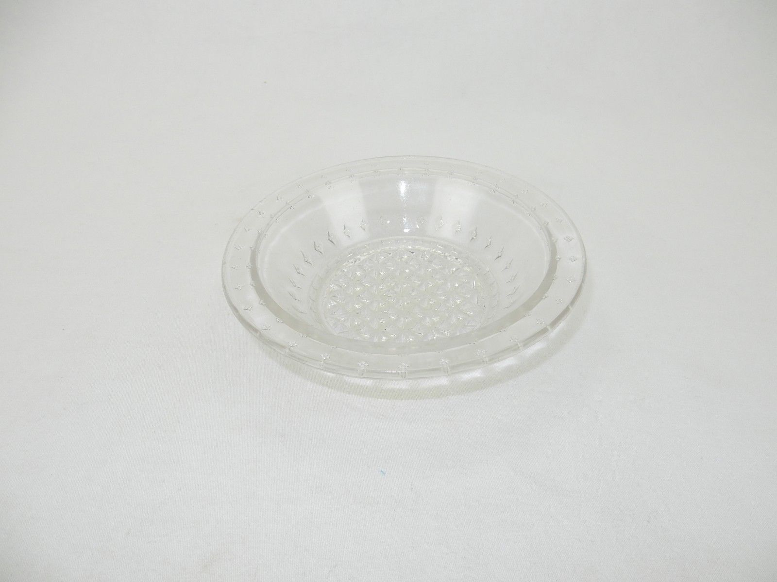 Primary image for Pressed Clear Glass Open Jam/Jelly Dish ,Serving Dish, Relish Dish, Rimmed 6""