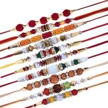 Combo of 10 Dora Rakhi Set Rakhi Thread for Brother Multicolor  with Rol... - $15.83