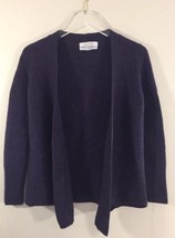 Ellen Tracy Women Overpiece Sweater Cardigan Purple Merino Wool Large - $27.69